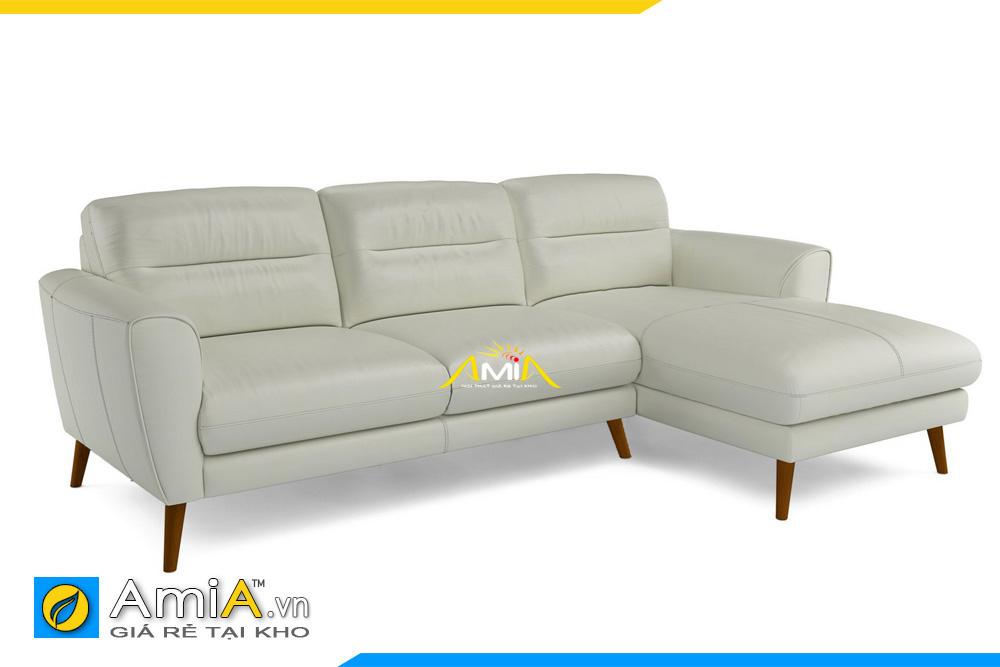 Mẫu ghế sofa da AmiA 20233 có form dáng khá sang trọng. Kê phòng khách gia đình hay văn phòng công ty cũng đều rất hợp và đẹp.